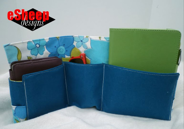 Wave Around Tote Bag Organizer by eSheep Designs