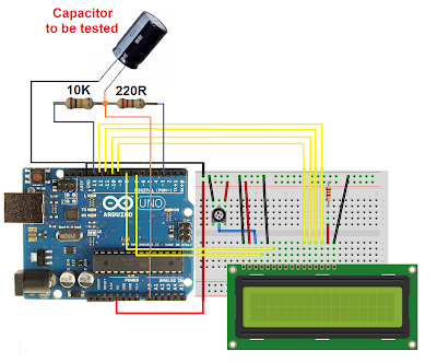 Arduino Capacitor tester with LCD