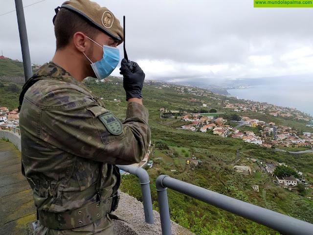 Las unidades del Ejército de Tierra en Canarias inician una nueva semana de actividades dentro de la Operación Balmis contra el COVID 19