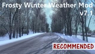 ets 2 frosty winter weather mod v7.1