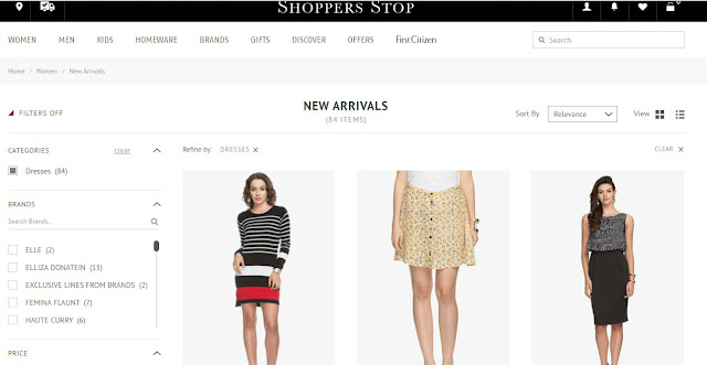 Shoppers Stop website, Shoppers Stop Spring Summer Collection 2016