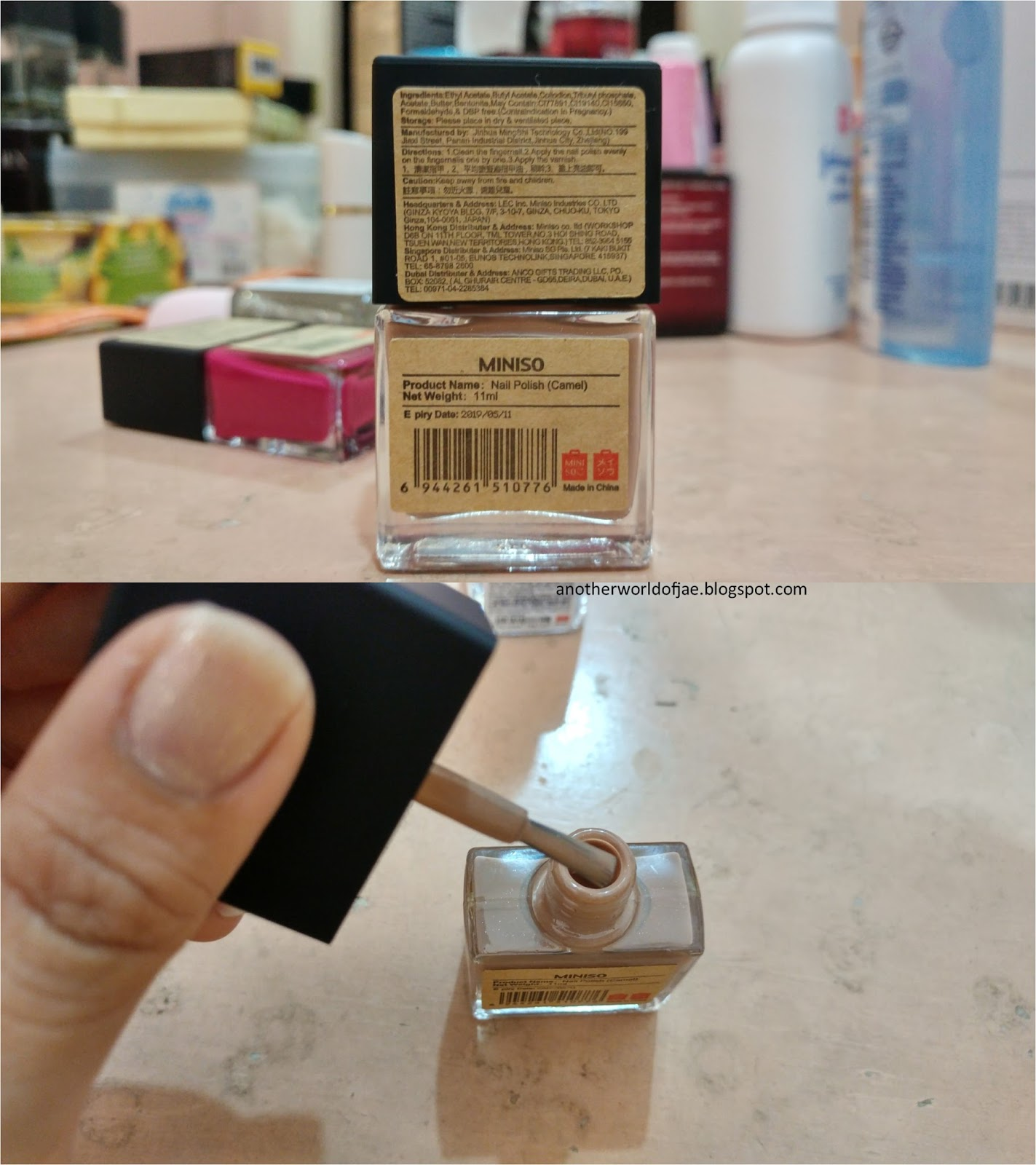 Another World Of Jae Review Miniso Nail Polish