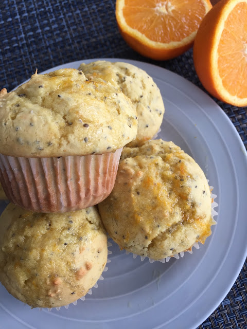 breakfast, healthy muffins, orange poppyseed, deals to meals, Recipe:  Snack, orange muffins, chia seeds