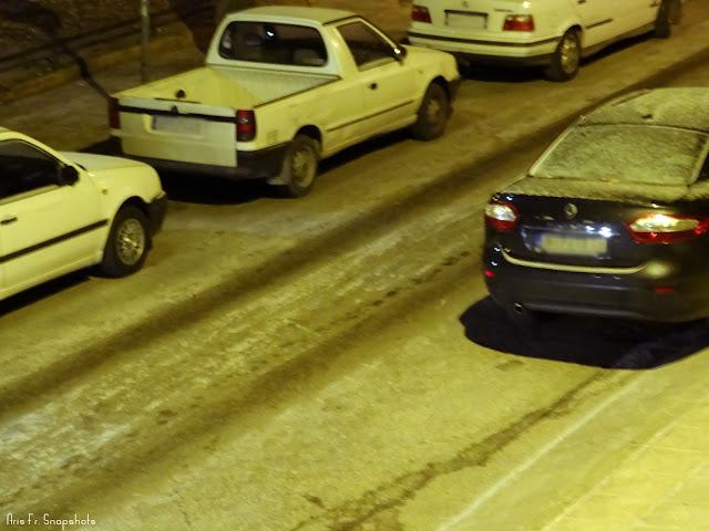 Ασθενής χιονόπτωση και πάγος στην Τούμπα