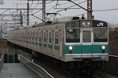 常磐線 取手行き7 203系