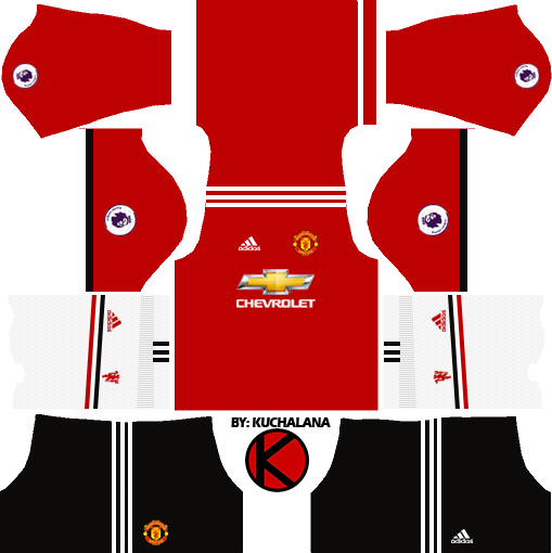 new style 912e8 837d8 Manchester United Kits 2017/2018 - Dream League Soccer ...