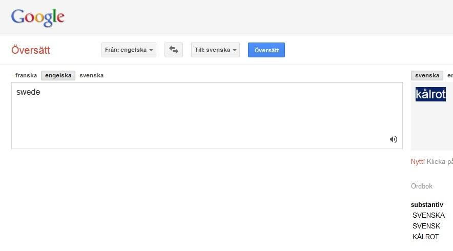 google translate från franska till svenska