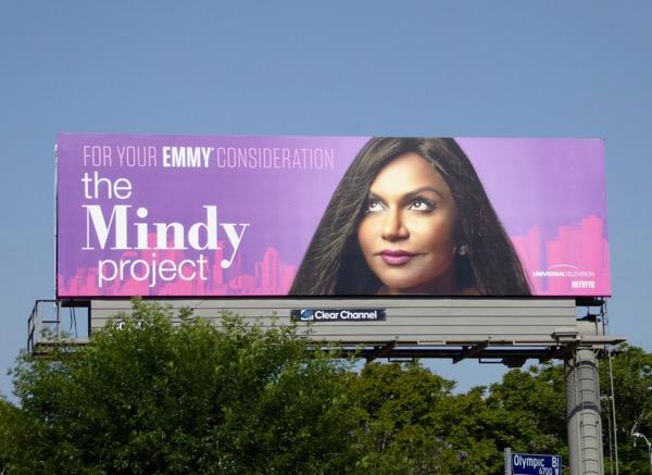 Mindy Project Emmy billboard