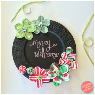 http://dazzlewhilefrazzled.com/holiday-chalkboard-plate-charger/