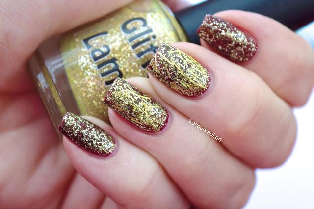 Fall Gold Glitter Topper Nail Polish by Glitter Lambs Nail Polish