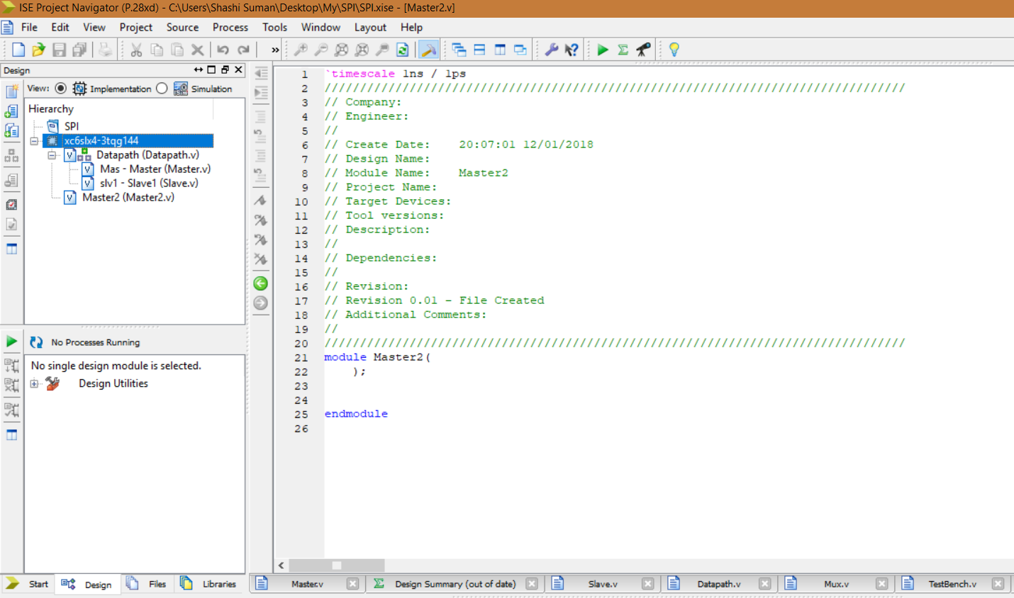 HelloCodings: Verilog simulation in Xilinx