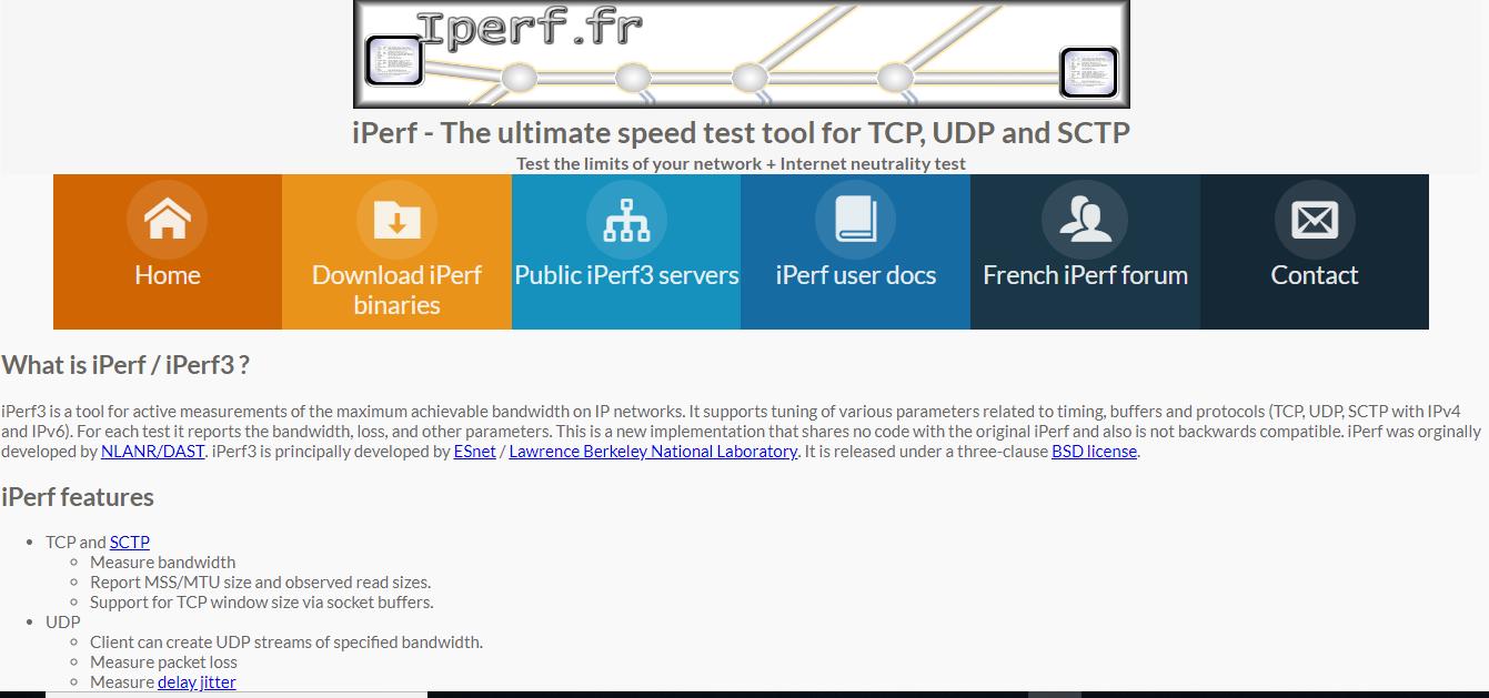 Chia sẻ kiến thức bài - : Reference - Iperf công cụ đo tốc độ và