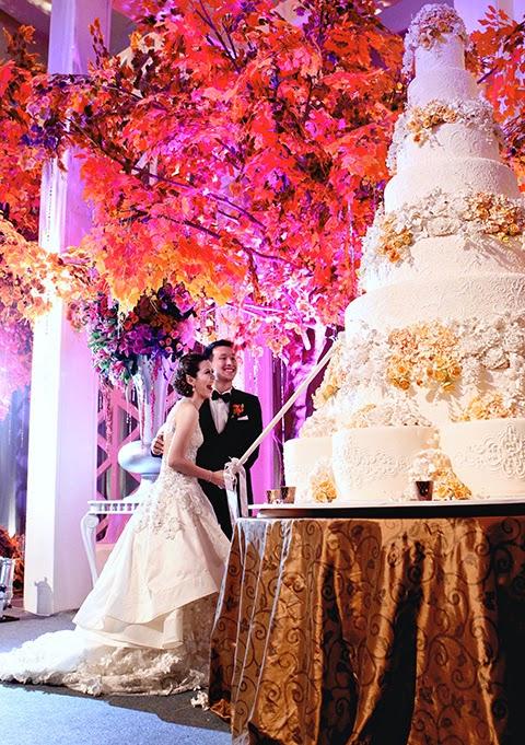 Mẫu bánh cưới đẹp lộng lẫy và cầu kỳ cho tiệc cưới 7