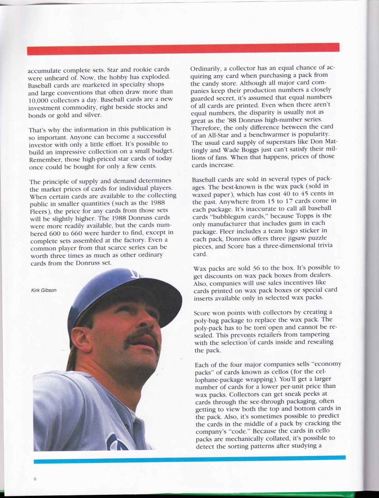 Rebel Random Ramblings Book On Baseball Cards From 30 Years Ago