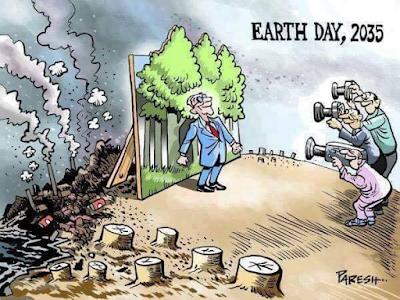 dünya, çevre, doğa, doğa katliamı, ağaç katliamı, karikatür, çevre bilinci, çevre temizliği, kirlilik, atıklar, ormanların yok olması,