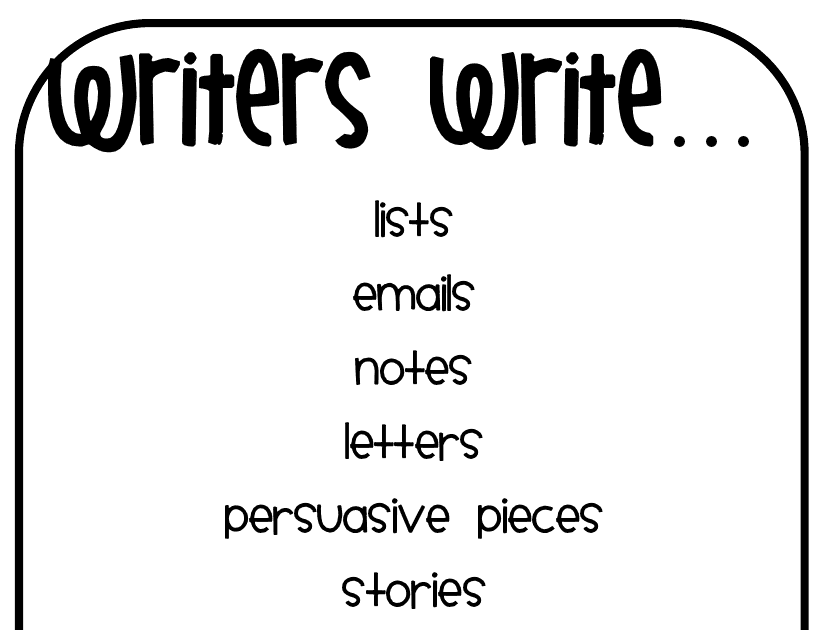 The Go To Teacher: Writers Write...