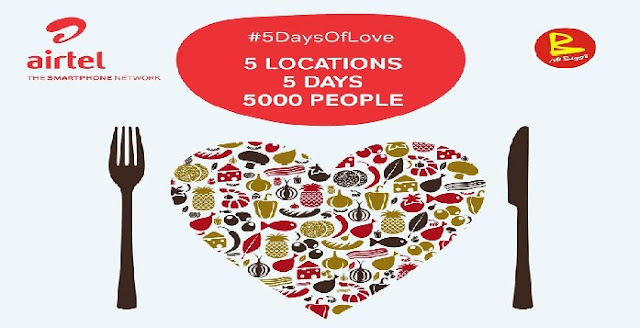 Airtel NG Kick Starts 5 Days of Love Tagged #5daysoflove