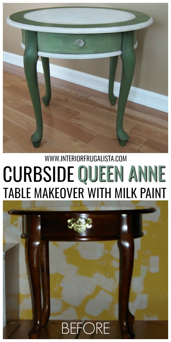 Curbside Queen Anne Milk Paint Table
