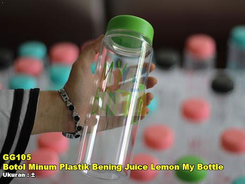 Botol Minum Plastik Bening Juice Lemon My Bottle