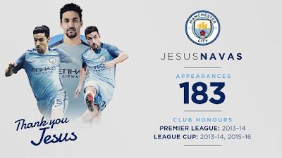 Jesús Navas fuera Manchester City