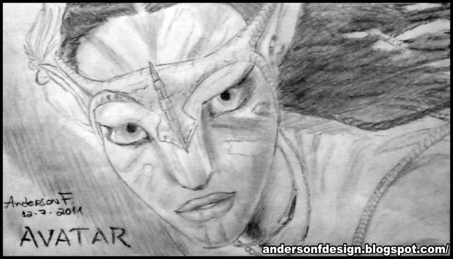 Anderson Furtado Desenho Grafite Avatar Filme