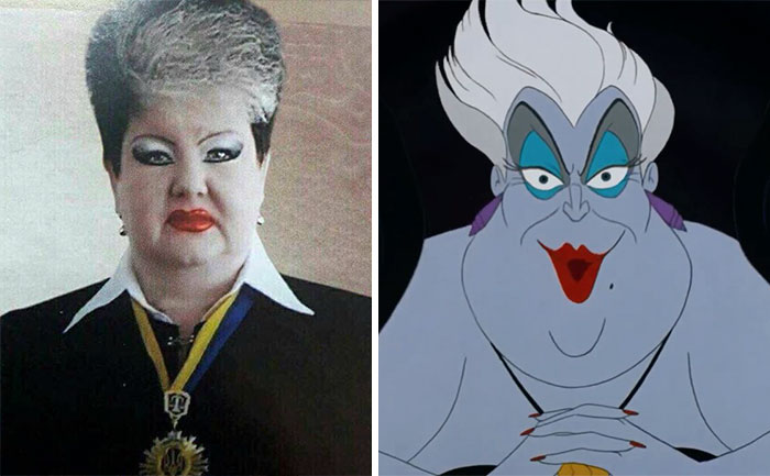 #1 This Ukrainian Judge Looks Like Ursula From Little Mermaid - 10 Real Life Disney Characters