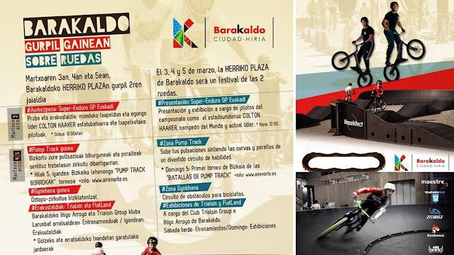 Programa de actividades ciclistas en Herriko Plaza