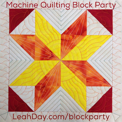 Free Motion Quilting Patterns For Blocks : The Free Motion Quilting Project: How to Machine Quilt Block #3