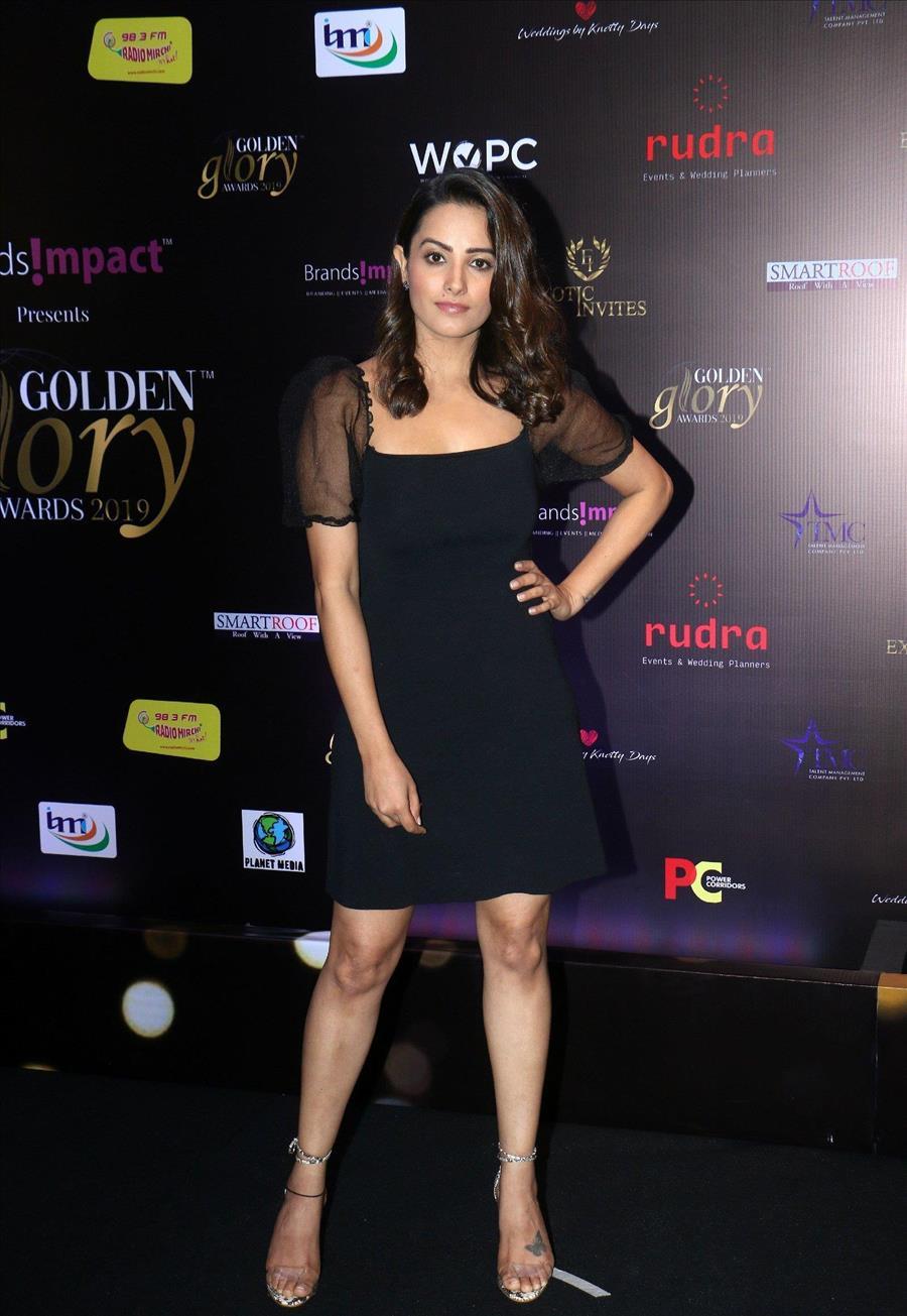 Indian TV Model Anita Hassanandani At Golden Glory Awards
