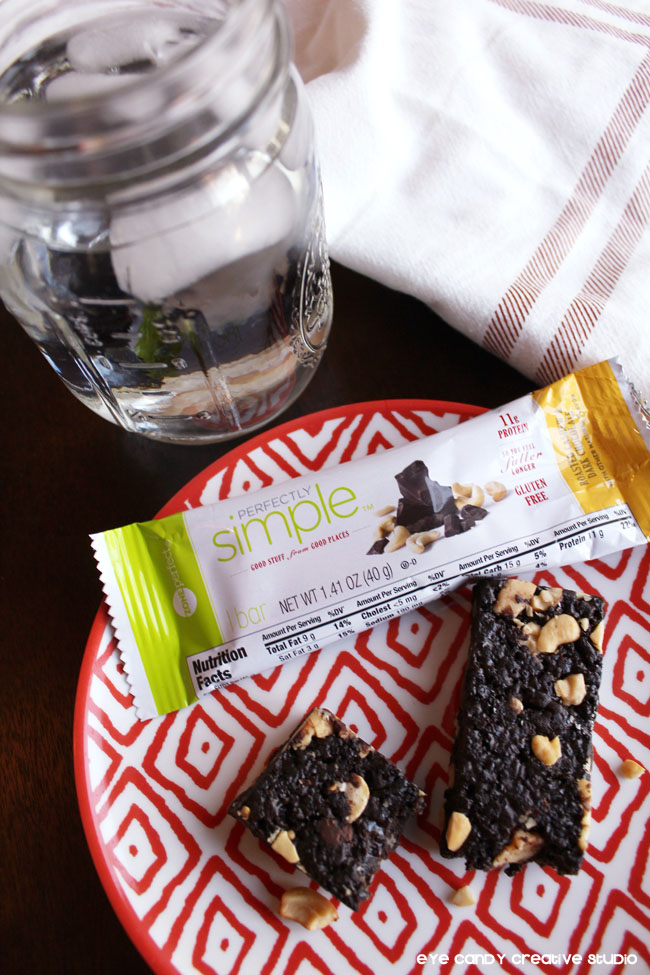taking a moment for you, healthy snacks, ZonePerfect bars, water