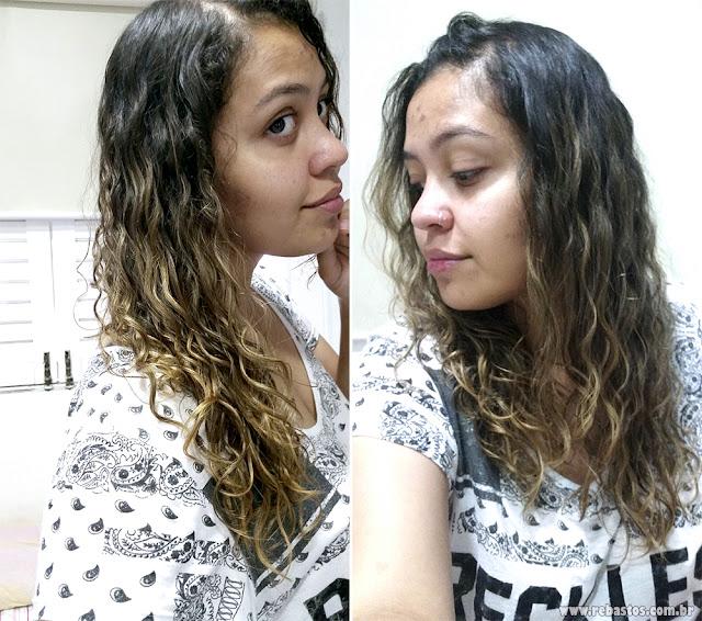 Finalizando cabelo ondulado