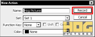 Membuat dan Menggunakan Photoshop Actions - Hog Pictures