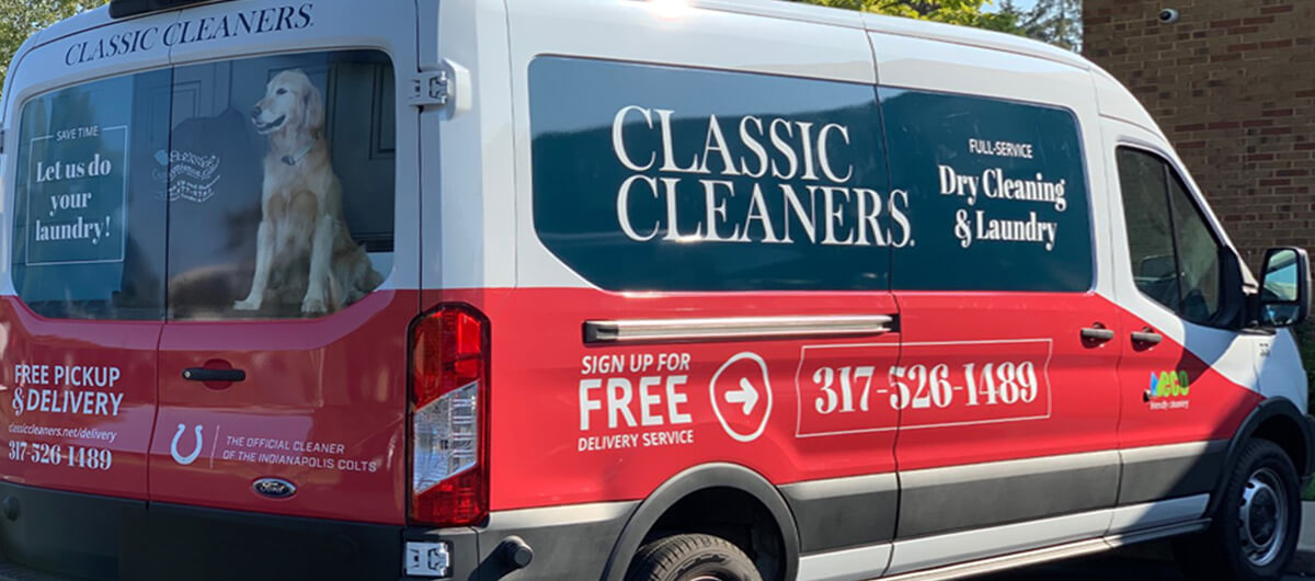 Classic Cleaners store van wraps