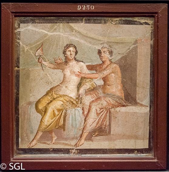 Museo Arqueologico Napoles. Fresco erotico del Gabinete secreto