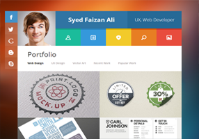 Template Blog Personal Folio
