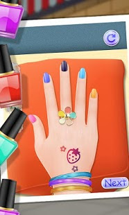 Screenshots of the Nail Makeover for Android tablet, phone.