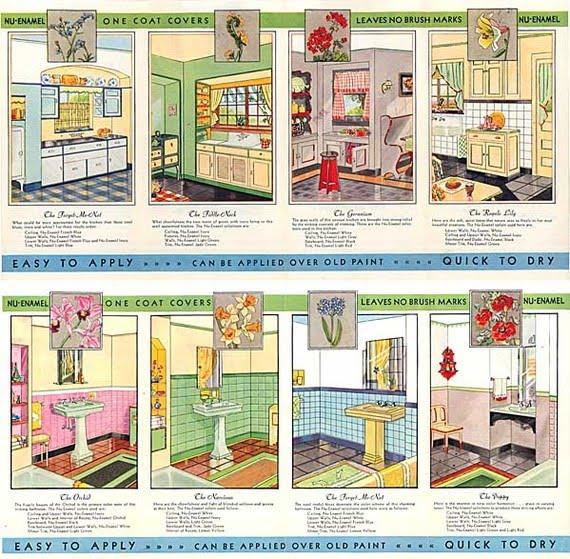 excellent 1930s kitchen | C. Dianne Zweig - Kitsch 'n Stuff: 1930's Nu Enamel Paint ...