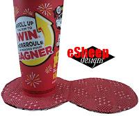 Lucky 8 CD Coaster Mug Rug by eSheep Designs