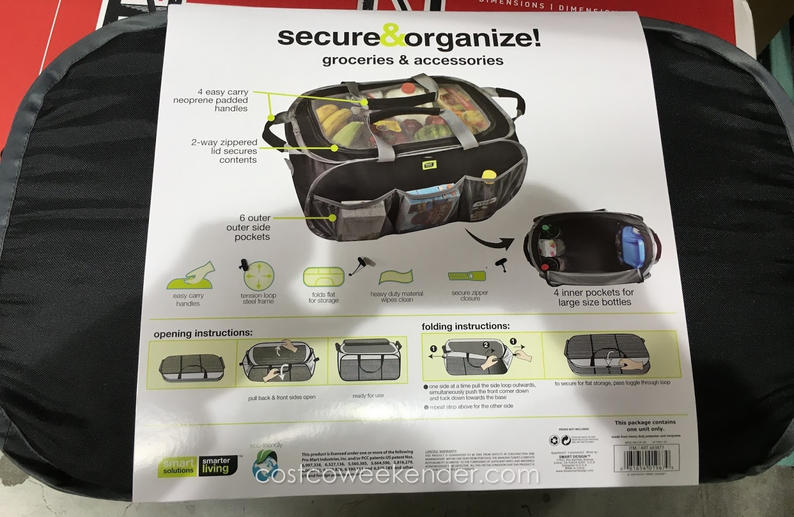 Smartworks Smart Design Pop Up Organizer Costco Weekender