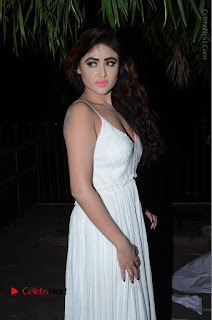 Telugu Actress Model Sony Charishta Pos in White Long Dress at Nanna Nenu Na Boyfriends Audio Launch  0007.JPG