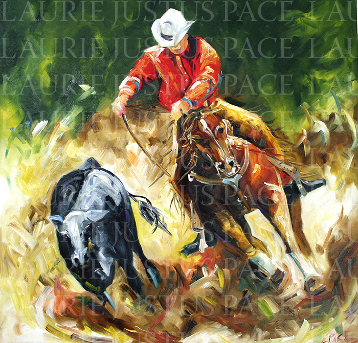 Colorful Abstract Horse Paintings By Texas Artist Laurie