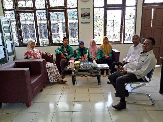 Penjemputan Mahasiswa PLP II di Lembaga Perkantoran FTIK IAIN Palangka Ray