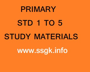 STD 1 TO 5 STUDY MATERIALS PRIMARY SCHOOL