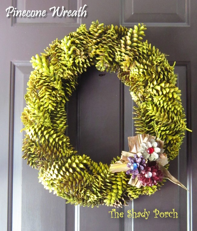 Happy House And Home Pine Cone Decor And Centerpieces