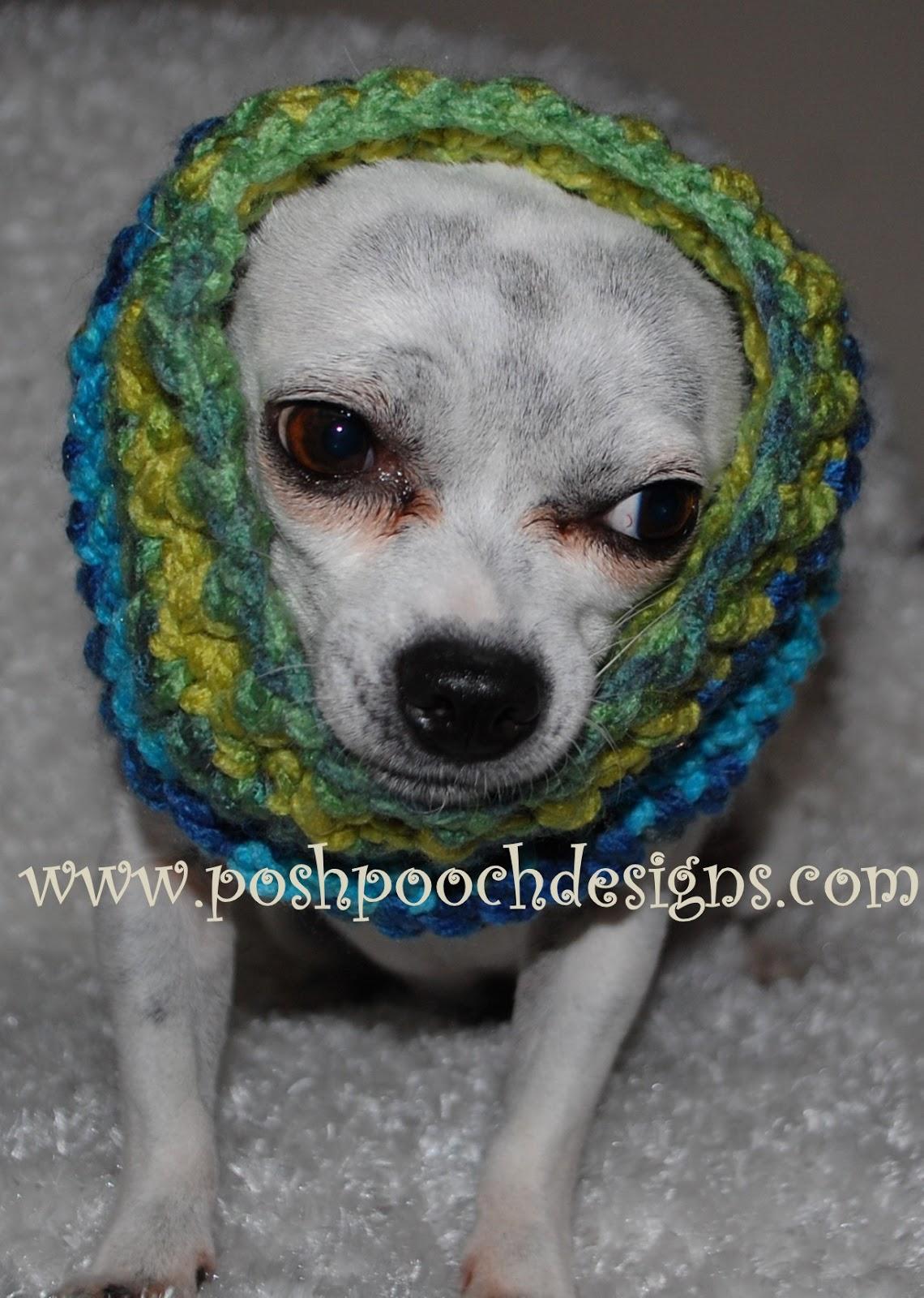 Posh Pooch Designs Dog Clothes: Dog Snood Crochet Pattern ...
