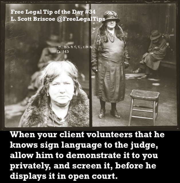 Free Legal Tip of the Day. Tip #34 L. Scott Briscoe. Mugshot Australia. May Blake, older lady, Sept. 1, 1930, sentenced to 12 months in jail for possession of cocaine. Court, Dumb People and Humor. marchmatron.com
