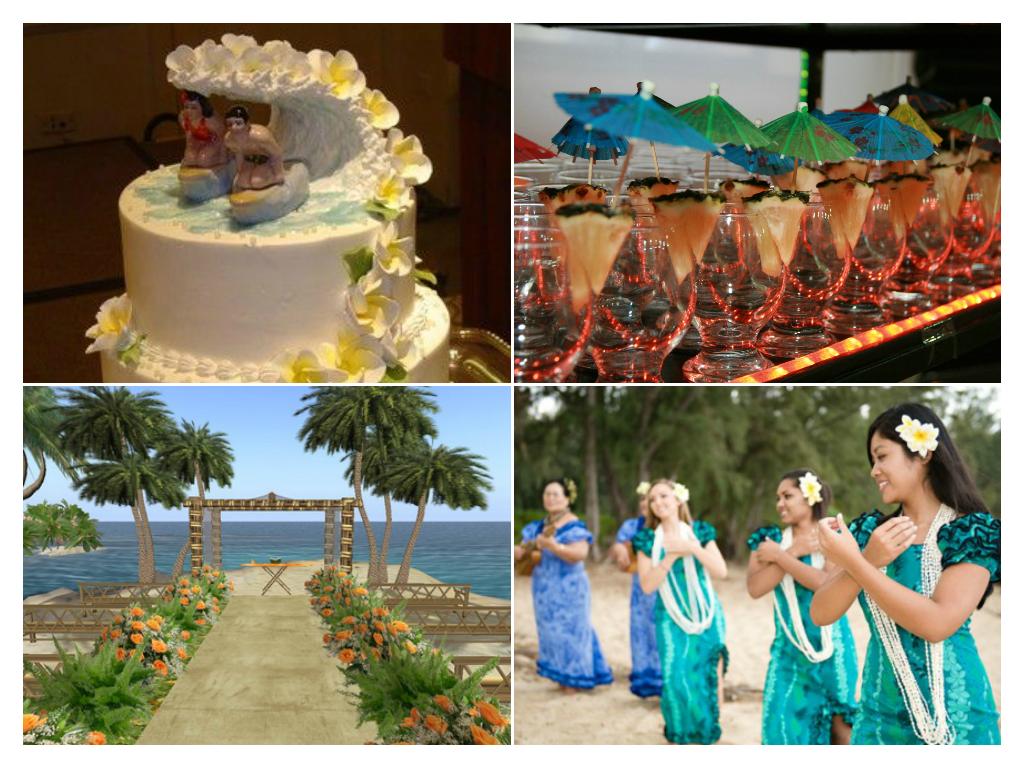 decoração de casamento temático havaiano