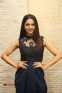 Actress Rakul Preet Singh Stills in Beautiful Blue Long Dress at Dhruva Salute to Audience Event  0044.JPG