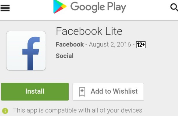 Facebook Lite Login or Sign Up for Free Download