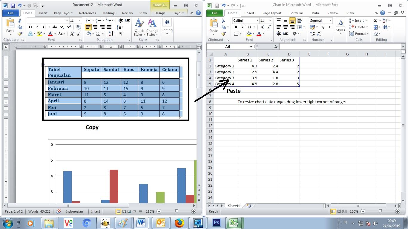 Cara Membuat Grafik Chart Di Ms Word